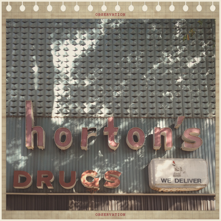 Horton's Drugs Signs